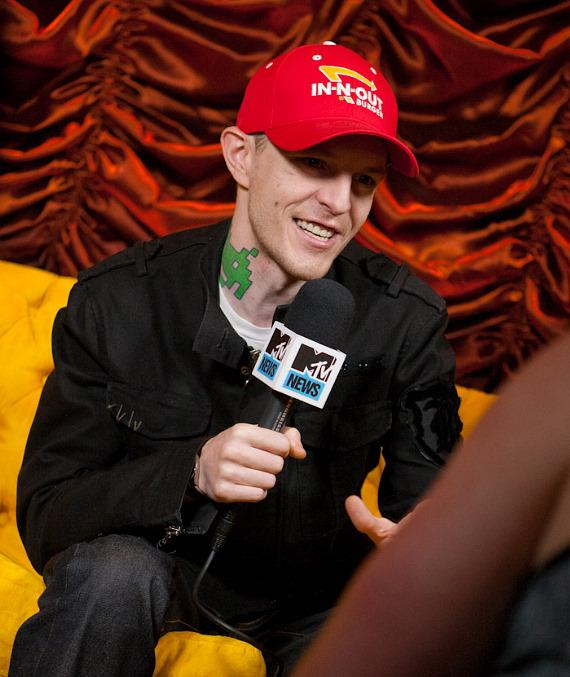 Deadmau5 interviewed by MTV at Encore Beach Club's one year anniversary celebration