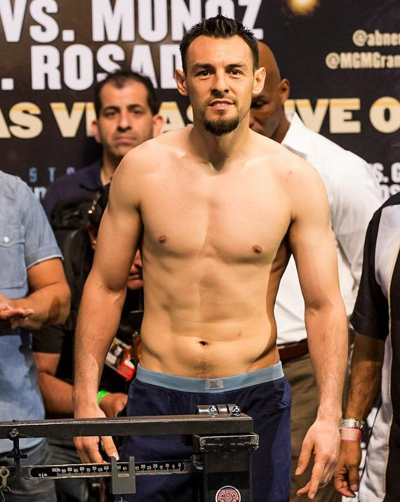 Robert Guerrero weighs in at MGM Grand Garden Arena