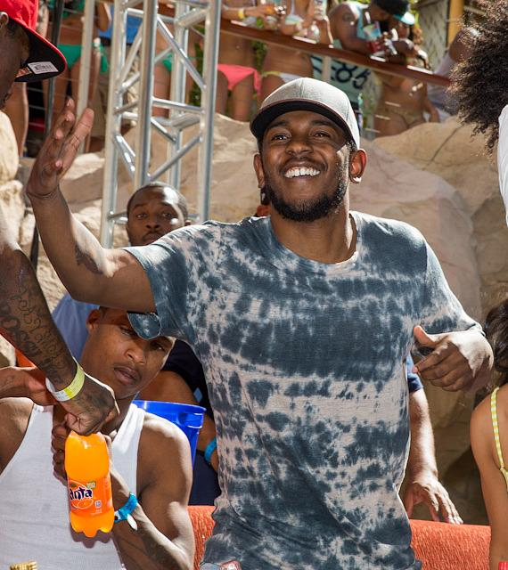 Kendrick Lamar performs at REHAB Pool Party at Hard Rock Hotel Las Vegas
