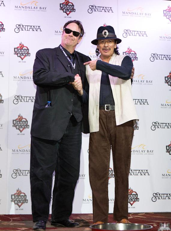 Dan Aykroyd and Carlos Santana