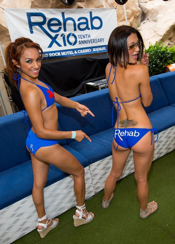 Dancers at REHAB at Hard Rock Hotel & Casino