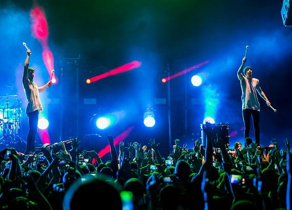 Twenty One Pilots perform at Brooklyn Bowl Las Vegas at The LINQ