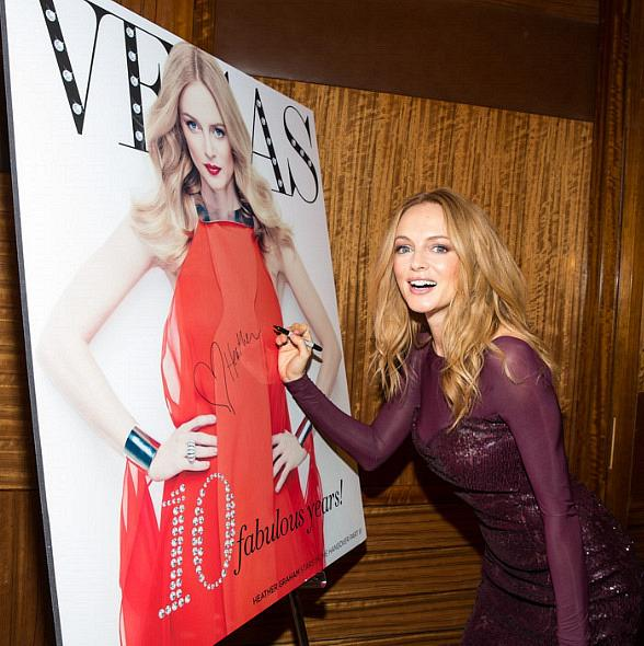 Actress Heather Graham at Vegas Magazine