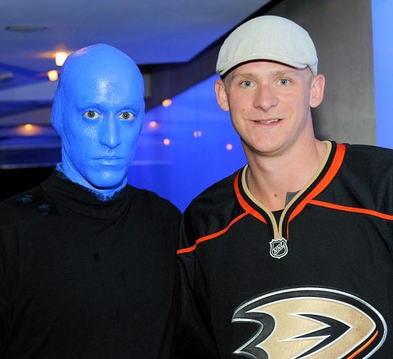NHL star Corey Perry at Blue Man Group