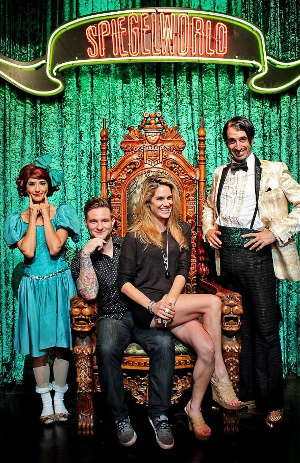 Actress Tiffany Michelle and Singer Blake Lewis Attend ABSINTHE at Caesars Palace