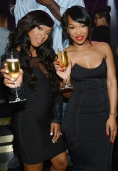 Reality Stars Malika and Khadijah Haqq Celebrate Birthday at 1 OAK Nightclub at The Mirage Hotel and Casino