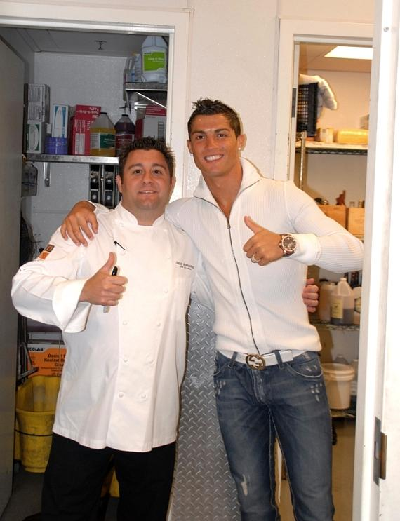 Nove Executive Chef Geno Bernardo and Cristiano Ronaldo