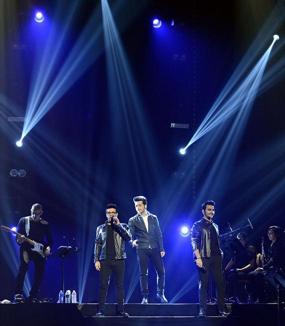 Il Volo performs at The Pearl at Palms Casino Resort in Las Vegas