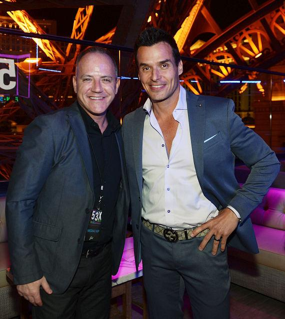 Michael Caprio and Antonio Sabato Jr. attend the opening of 53X