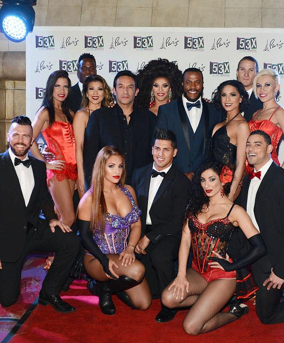 Cast members of 53X - the new show from the producers of Chippendales pose for photos at Paris Las Vegas