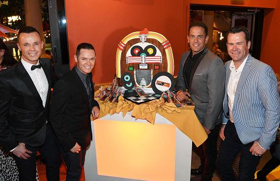 Australian pop vocal group Human Nature celebrate the launch of their new show 'Jukebox' at The Venetian Las Vegas