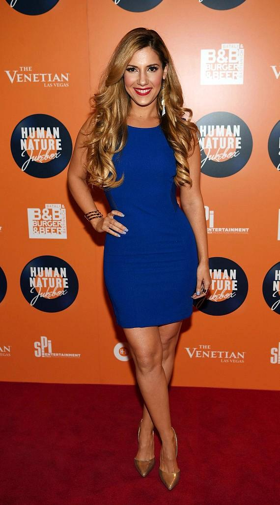 Maren Wade arrives at the launch of Human Nature's new show 'Jukebox' at The Venetian Las Vegas