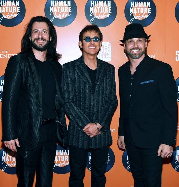The Australian Bee Gees arrive at the launch of Human Nature's new show 'Jukebox' at The Venetian Las Vegas