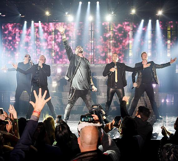 Backstreet Boys perform at Private Party in Caesars Palace on New Year's Eve