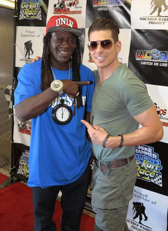 """Mike Hammer's Celebrity Go-Kart Race"" - Photo Gallery #1 - Flavor Flav, Gordie Brown, Mac King, Dixie Miranda, Ryan Worley, Gerry McCambridge, Dawn Smith, Johnny Kats, DJ Liz, Melanie Kramer"