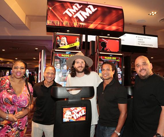 TMZ Executive Producer, Harvey Levin and TMZ Staff with the new TMZ Video Slots