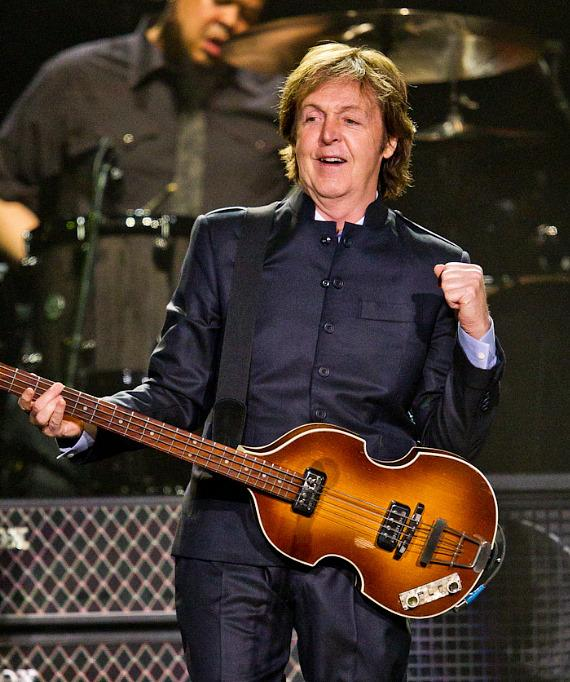 Sir Paul McCartney performs at MGM Grand Garden Arena in Las Vegas