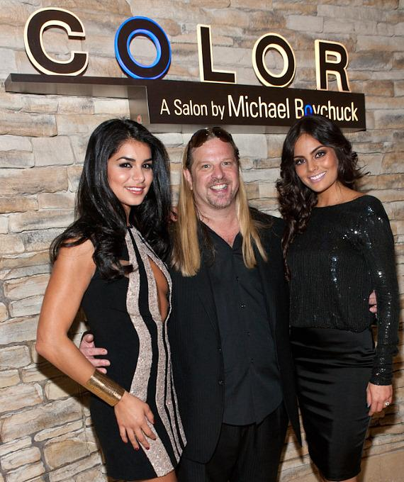 Miss USA Rima Fakih, Michael Boychuck and Ximena Navarrete, Miss Universe 2010