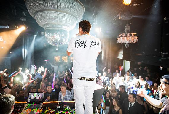 Sky Blu performs at Body English Nightclub in Hard Rock Hotel Las Vegas