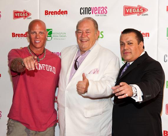 Johnny Brenden, Robin Leach and Jerry Olivarez at Brenden Celebrity Star presentation