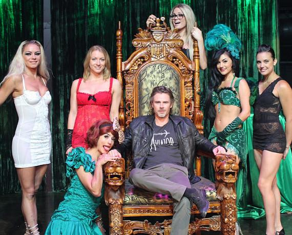 Sam Trammell with the ladies of ABSINTHE