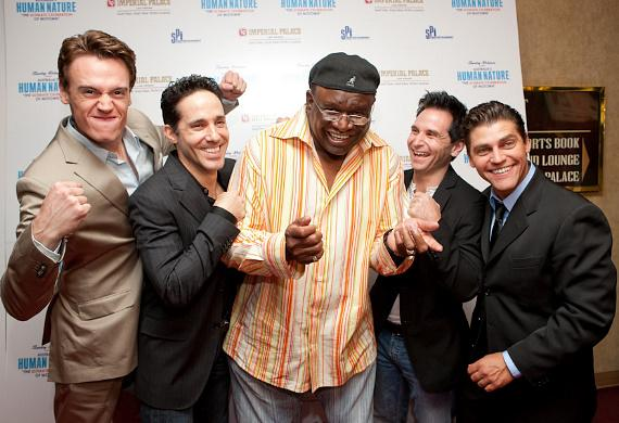 The Jersey Boys Cast and George Wallace