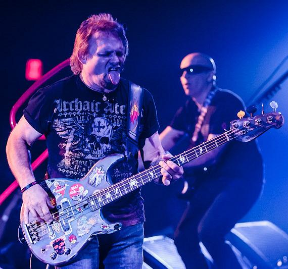 Michael Anthony and Joe Satriani of Chickenfoot