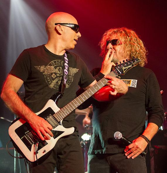 Joe Satriani and Sammy Hagar of Chickenfoot