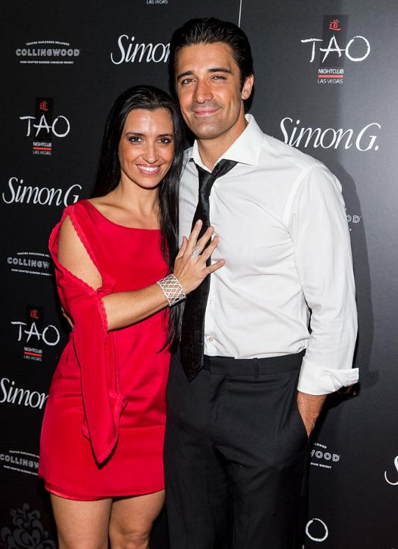 Gilles and Carole Marini on red carpet at Simon G soiree in TAO Las Vegas