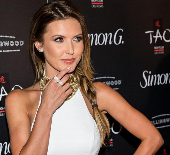 Audrina Patridge on red carpet at Simon G soiree in TAO Las Vegas