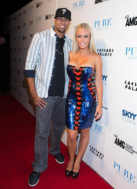 Hank and Kendra Wilkinson-Baskett on red carpet at PURE Nightclub