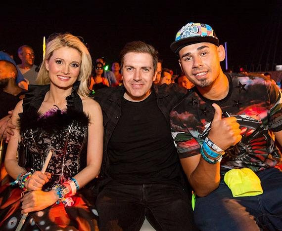 Holly Madison, Pasquale Rotella and  Afrojack at Electric Daisy Carnival