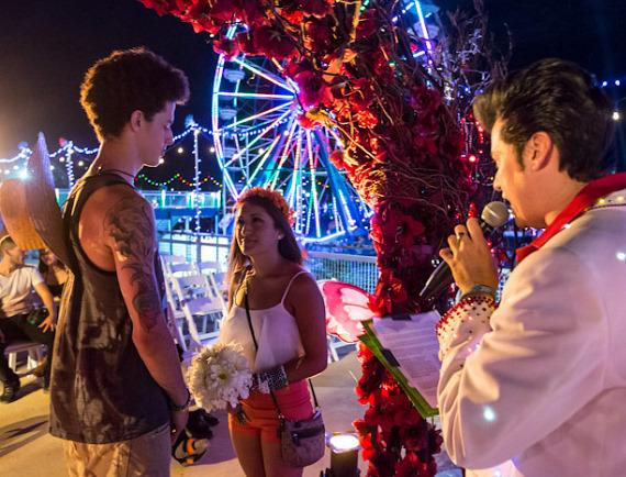 Getting married at Electric Daisy Carnival