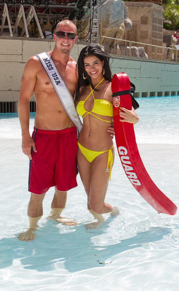 Rima Fakih, Miss USA 2010, at Mandalay Bay Beach