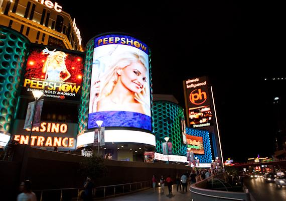 PEEPSHOW marquee featuring Holly Madison