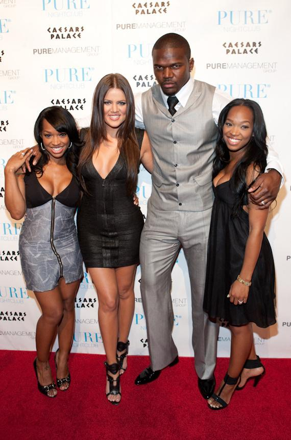 Malika Haqq, Khloe Kardashian, Bobby McCray (of the New Orleans Saints) and Khadijah Haqq