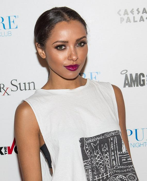 Kat Graham of 'The Vampire Diaries' on red carpet inside PURE Nightclub