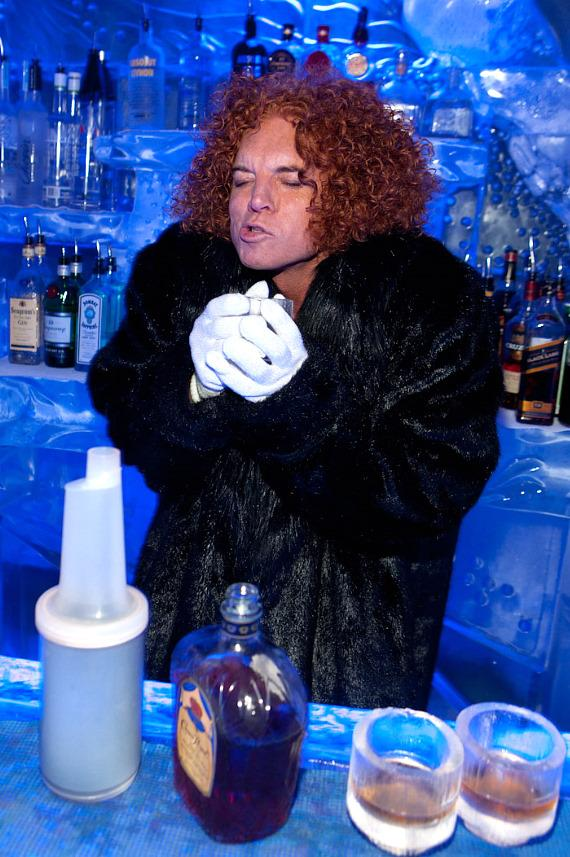 Carrot Top mixes his signature drink, the Heat Miser