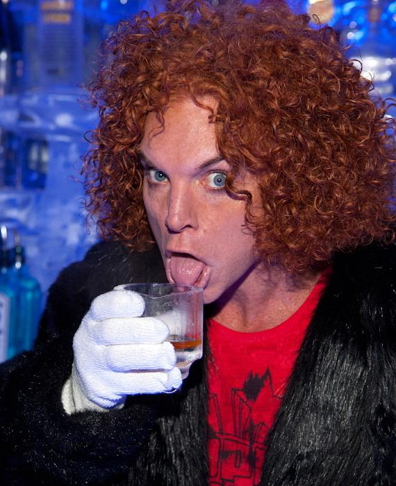 Carrot Top with his signature drink, the Heat Miser