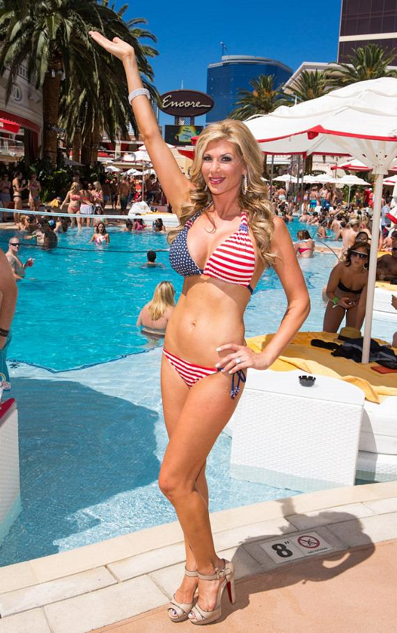 Alexis Bellino at Encore Beach Club at Encore Las Vegas