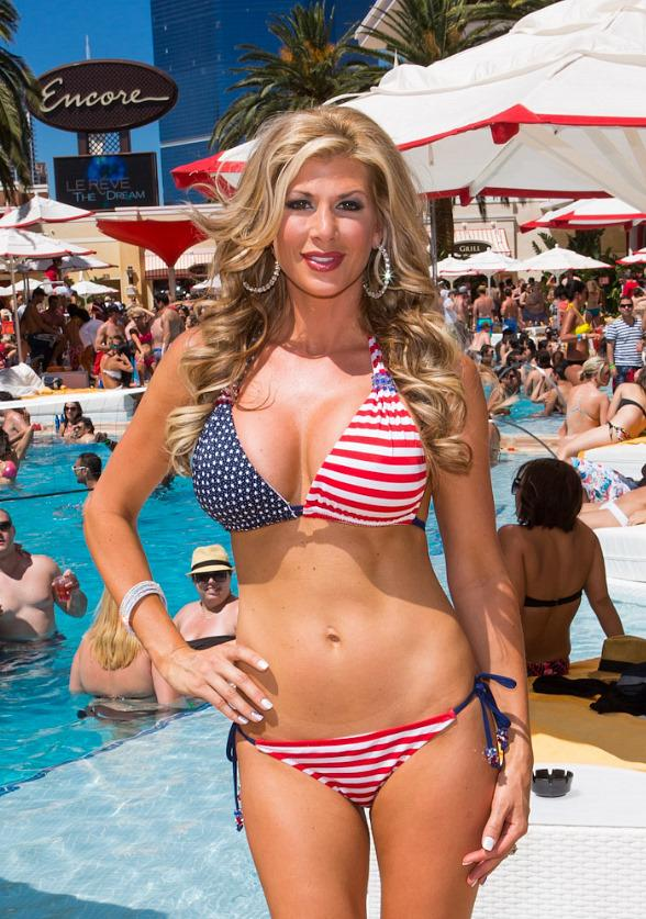 Alexis Bellino from The Real Housewives of Orange County Parties at Encore Beach Club 