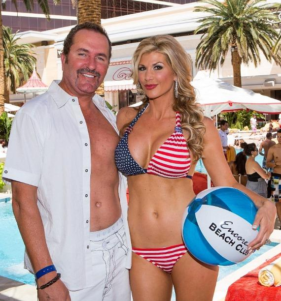 Jim Bellino and Alexis Bellino at Encore Beach Club