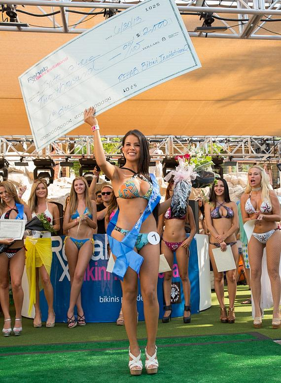 Contestant at Rehab Bikini Invitational at Hard Rock Hotel & Casino