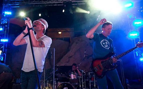 The Gin Blossoms perform poolside at Hard Rock Hotel & Casino
