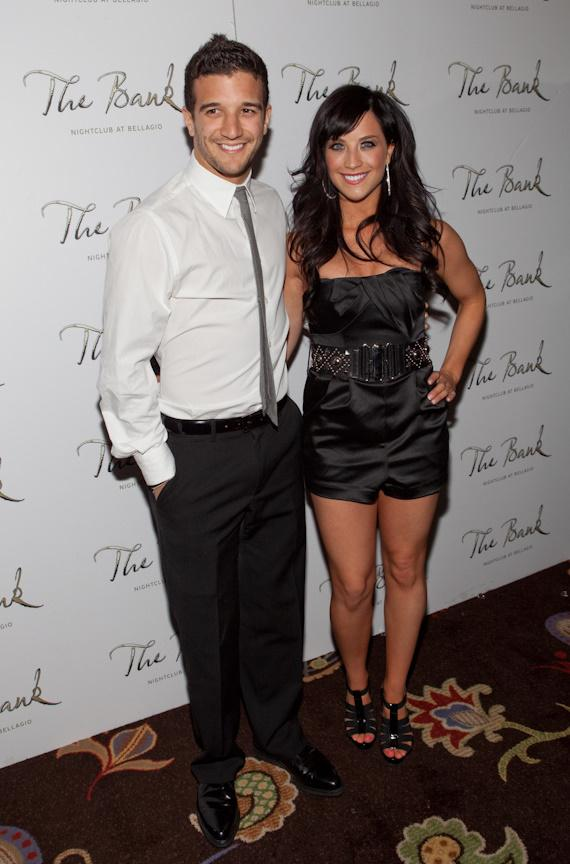 Mark Ballas and his girlfriend Joanna Pacittiat at The Bank at Bellagio