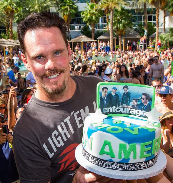 "Kevin Dillon of ""Entourage"" parties at REHAB at Hard Rock Hotel & Casino"