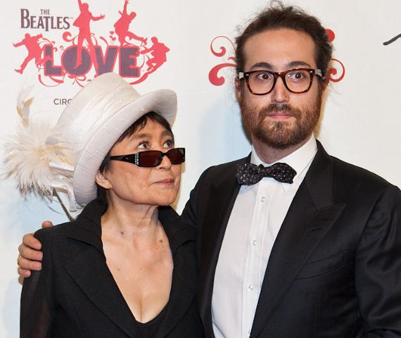 Yoko One Lennon and Sean Lennon