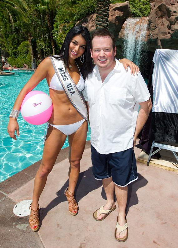 Miss USA 2010 Rima Fakih and magician Nathan Burton