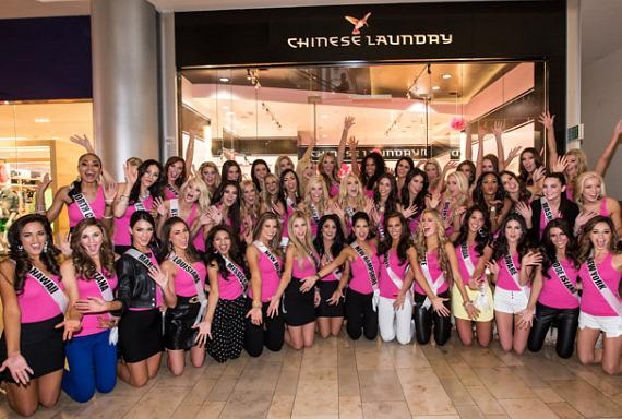 51 Miss USA contestants at Chinese Laundry in Fashion Show Mall