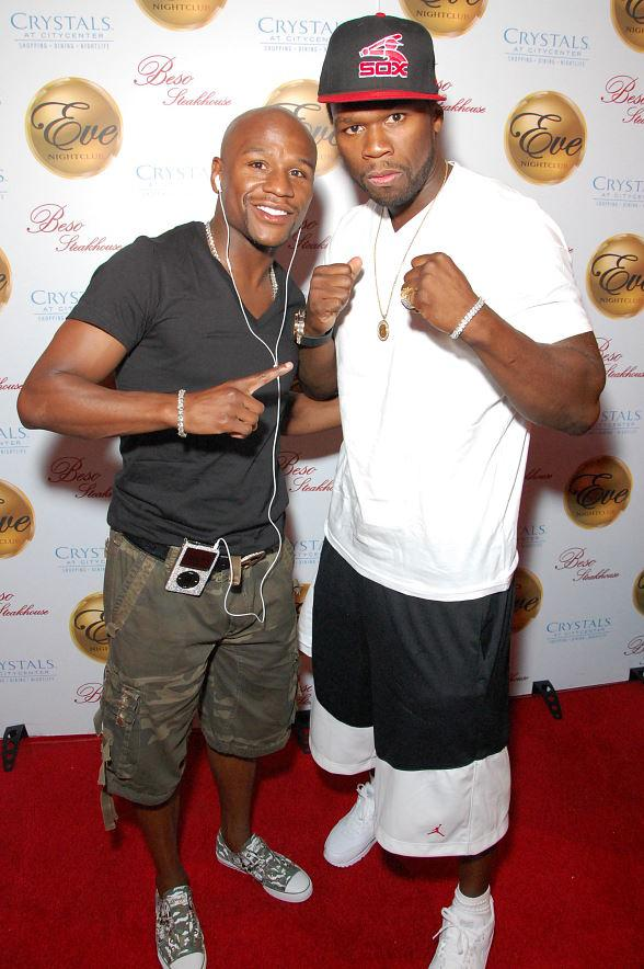 50 Cent celebrated his birthday with host of the evening Floyd Mayweather at Eve Nightclub